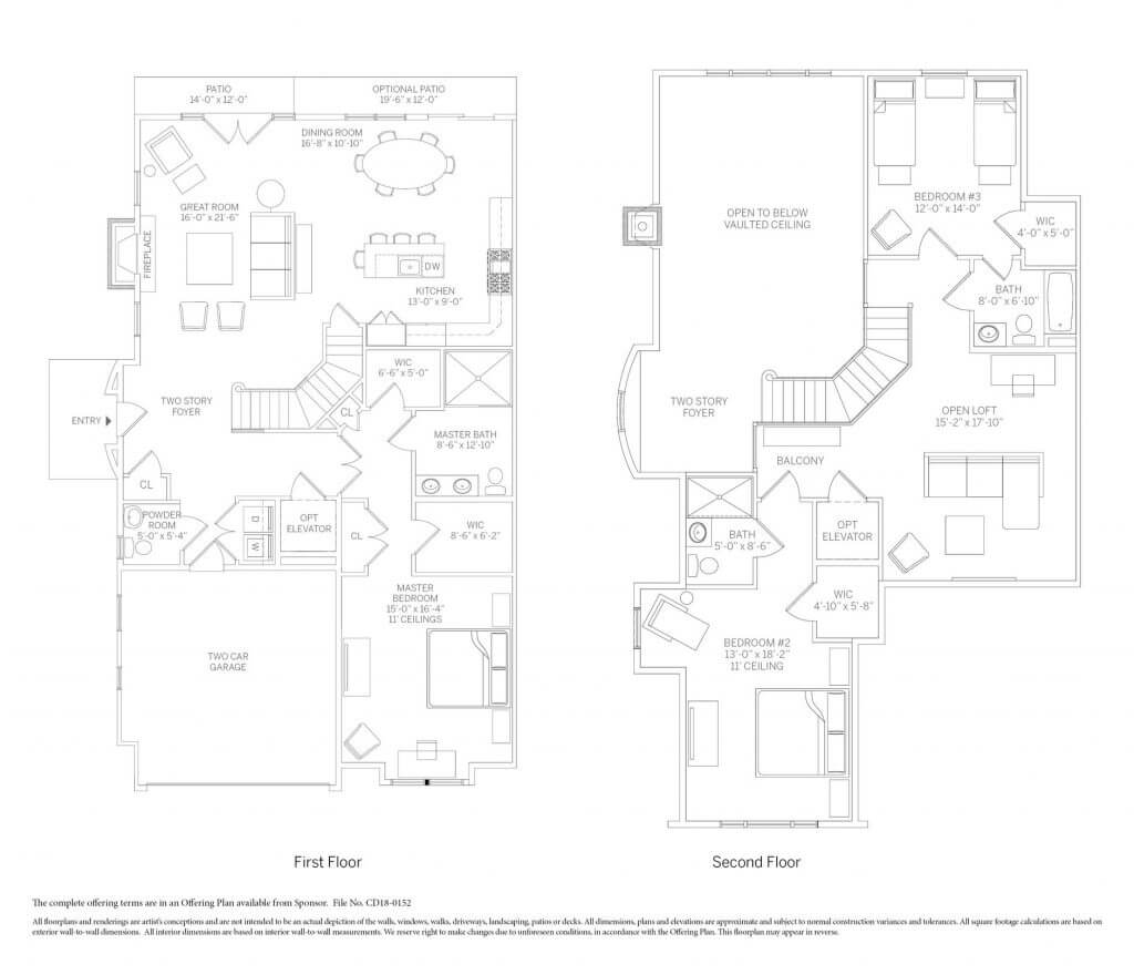 The Ascot townhome floor plan at Kensington Estates in Woodbury. Call for availability.