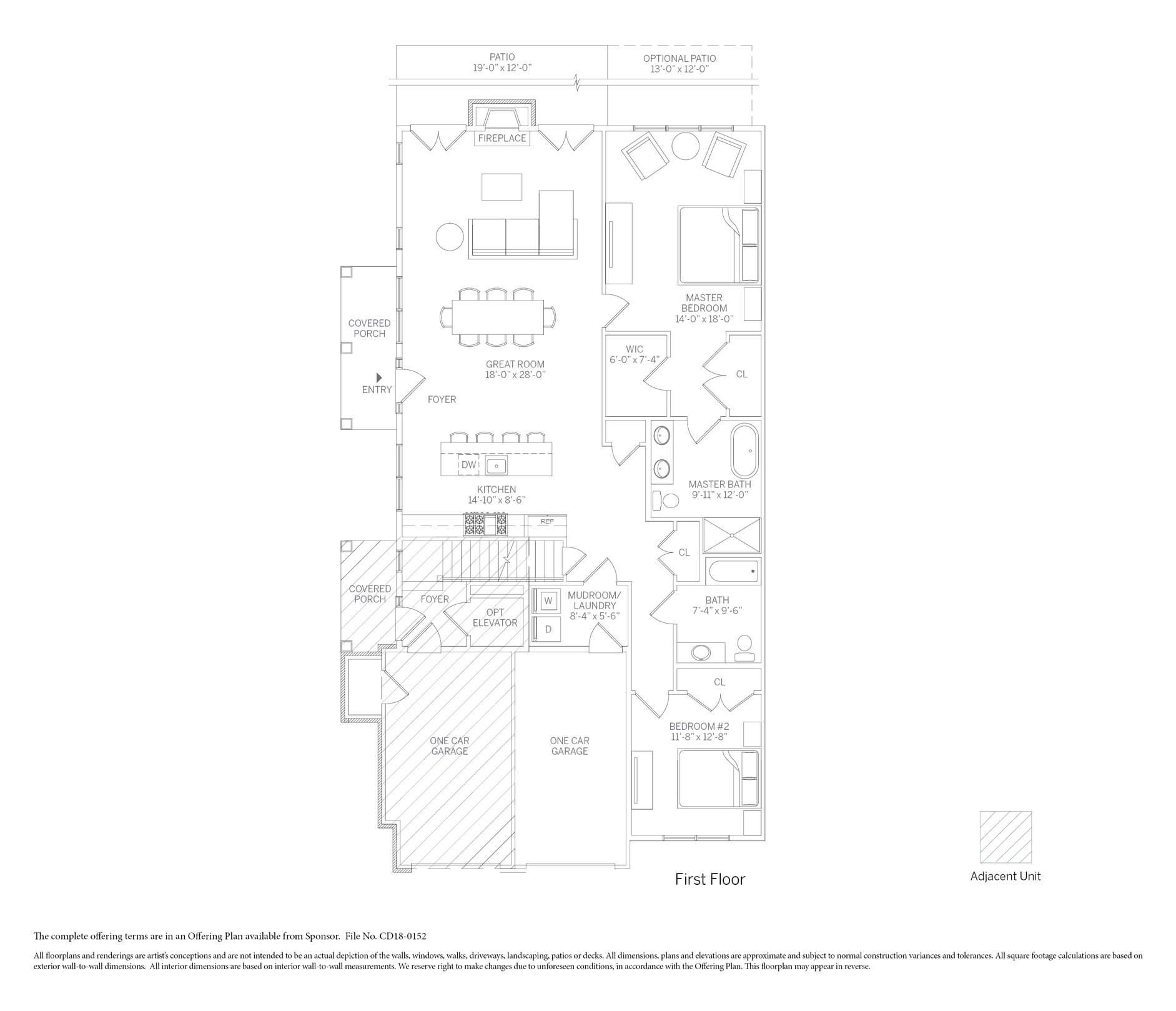The Churchill carriage home floor plan at Kensington Estates. Call for availability!